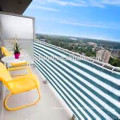 PatioSun Shading Wind Shielding Privacy Protective Mesh for Balcony Deck Pool