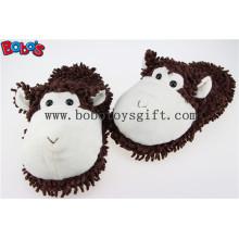 Indoor Schuhe Plüsch Angefüllte Tiere Puce Affe Männer / Frauen Komfort Hausschuhe