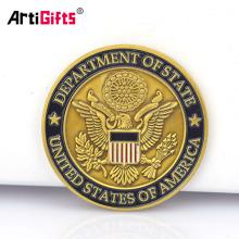 Подгонянный американский США старое золото, серебряные слитки цветных орлом нет минимальное