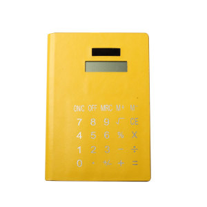 8 Digits PU Notebook Calculator for Students