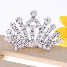 Princesa cristal cabelo coroa strass tiara crianças cabelo pente
