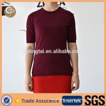 женщины кашемир футболка
