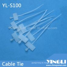 Selbstsichernder Kabelbinder zum Markieren (YL-S100)