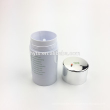 Cylinder shape hot sale plastic deodorant gel container
