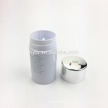 Recipiente de gel de desodorante plástico venda quente de forma de cilindro