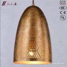 Moderne runde goldene hohle hängende Beleuchtung mit Esszimmer
