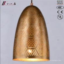 Современные круглые Золотые полые Кулон освещение столовая