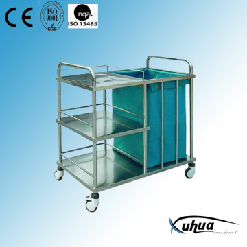 Stainless Steel Hospital Medical Laundry Collecting Trolley (Q-9)
