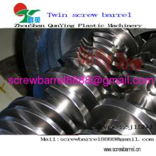 Tornillo doble barril para Pvc Pe línea de extrusión de plástico madera