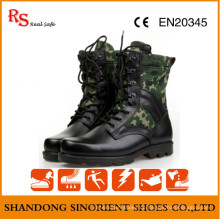 Black Action Leder Military Tactical Dschungel Stiefel RS273
