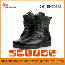 Черные боевые Кожаные Военные Тактические Сапоги Джунглей RS273