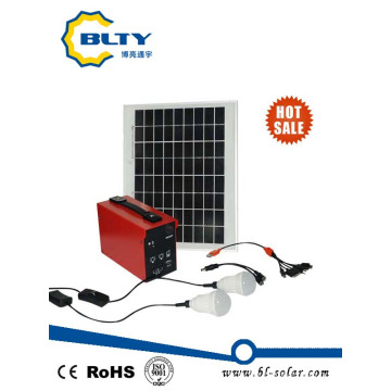 10W Solar Lighting Kit with LEDs and USB Outputs