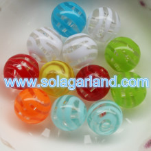 Clear 12MM Plastic Stripe Beads For Chunky Necklace Pendant