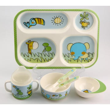 (BC-MK1001) Fashinable Design Mélamine Kids Cute Dinner Set