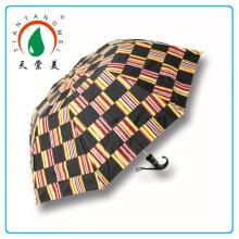 30 Zoll gerade Golf schwarzen Regenschirm In Hangzhou gemacht