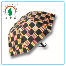 30 Inch Straight Golf Black Umbrella Made In Hangzhou