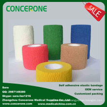 Cotton Self-Adhesive Elastic Bandage for Sports, Medical, Pets