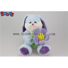 Blue Valentines Day Geschenk Plüsch Kaninchen Tier mit Sun Blume Bos1154
