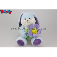 Blue Valentines Day Gift Plush Rabbit Animal with Sun Flower Bos1154
