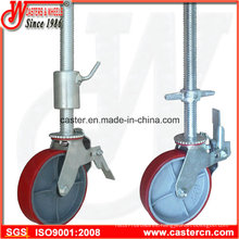 Adjustable Scaffolding Swivel Caster Wheel with Brake