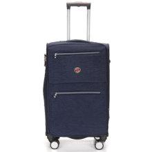Waterproof Nylon 4 Wheels Built-in Trolley Luggage Travel Bag