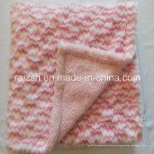 Dupla camada PV pilha com cobertor de pelúcia curto super macio para crianças