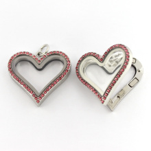 Fashion Heart Shaped Magnetic Floating Charm Locket Jewelry Pendant