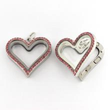 Мода сердце образный магнитный плавающий шарм ожерелье ювелирные изделия кулон