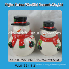 Lovely snowman shaped ceramic biscuit jar
