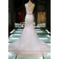 Gorgeous Decoration Elegant Superior Lace Real Sample Guipure Lace Wedding Dresses/Detachable Lace Top Muslim Wedding Dress