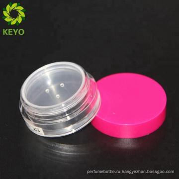Мини порошок 10г баночка косметическая макияж компактный порошок рассыпчатую пудру банку с сито
