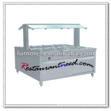 Equipo de buffet eléctrico de lujo estilo acero C235