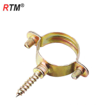 Inch stainless steel single pipe clamps with screw