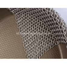 SS316 Ring Mesh Fabric Cookware Cleaner