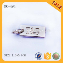 MC494 custom engraved jewelry hang tag for bracelet,metal jewelry plate by guangzhou made