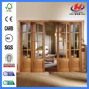 *JHK-Prehung Interior French Doors Oak French Doors Internal French Sliding Doors