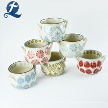 Plante à fleurs de haute qualité beau petit pot de jardinière coloré en céramique