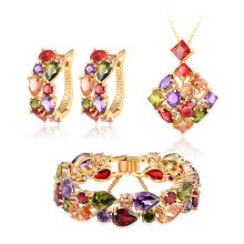 Bridal Jewelry Sets 18k Gold Plated Brass Women Jewelry (CST0036)