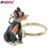 Wholesale Custom Newest fashion 3d dog shape sublimation keychain