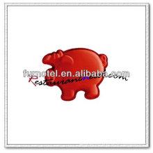 Molde De Bolo De Forma De Porco De Silício V105