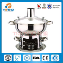 2014 elegant Chocolate Fondue Set ,mini Chafing dish, stainless steel chaffy dish,royal hot pot
