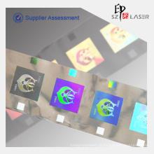 Folha de PET Hot Stamping holográfico tira de segurança abel