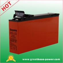 Bateria de gel de terminal frontal de chumbo 150ah 12V