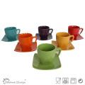 Design coloré et créatif 8 oz Cup & Saucer