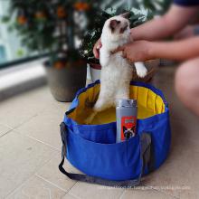 Banheira dobrável exterior do animal de estimação da piscina super do cão do gato do curso da qualidade