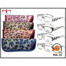 Fashionable Match bolsa patrón animal gafas Eyewearframe lectura gafas (MRP21658)