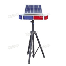 Lumière d'avertissement lumineuse solaire 96PCS, signal de signalisation de circulation, lumière de sécurité flash avec trépied