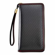 New design red carbon fiber wallet