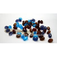 Perles en cristal, perles en cristal ovales