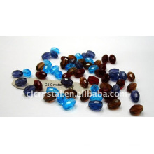 Crystal Strands Faceted Beads,oval crystal beads